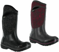 Block Heel Pull on Wellington Boots for Women