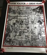 Vintage Portland Trail Blazers Poster BASKETBALL 1984 20th Anniversary Very Nice