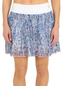 NEW JoFit Women's Mesh Swing Short Skort Golf Skirt - White Sherry Print NWT