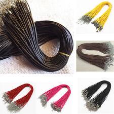 5/10/50/100X Braid Rope Hemp Cord Lobster Clasp Chain Necklace Bracelet DIY 46cm