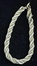 """Fine Circa 1940 12K Gold Filled Rope Bracelet Vintage 6mm 7.5"""""""