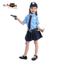Child Police Girl Costume Cop WPC Uniform Kids Book Day Week Fancy Dress