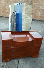 mid century mirror top dressing chest/table