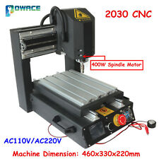 3 Axis Desktop 2030 400W Spindle CNC Router Engraving Milling Machine+SD Driver