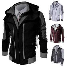 New Men's Slim Fit Stand Collar Coat Tops Military Jacket Winter Outwear Blazer