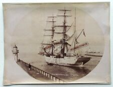 GRANDE PHOTO bateau voilier 3 mats CHARLES de GRANVILLE sortant du port LE HAVRE