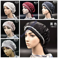 100% Mulberry Silk Sleep Wrap Night Cap Hair Care Bonnet Women's Hat