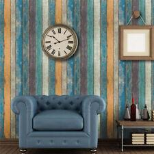 Vintage Wooden Block Pattern Faux Wood Effect RealisticTextured Wallpaper Decor