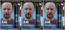 Mens Temporary Hair Colour Dye Mascara Beard Moustache Eyebrows BROWN AUBURN