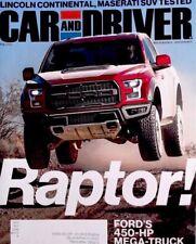 Car & Driver© 2017 Feb Ford F-150 Raptor Truck, Maserati, Alfa Romeo, Mercedes