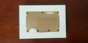 The Ridge Wallet Aluminum - Gold + Money Clip *NEW UNOPENED*