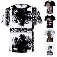 XXXtentacion 3D Print Men Summer Print Tee T Shirt Short Sleeve Hip Hop Cotton