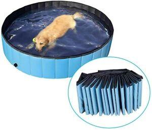 Dog Paddling Pool Puppy Swimming Shower Bath Bathtub Foldable Pet Wash