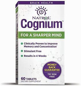 Natrol Cognium For a Sharper Mind Improve Memory Recall Cognitive Health 60 Tabs