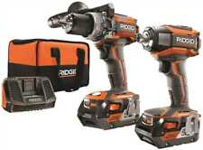 RIDGID 3554586 Cordless Brushless Hammer Drill And Impact Driver Combo Kit