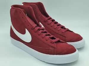 Nike Blazer Mid '77 Suede Team Red White Sneakers Shoes CI1172-601 Size 10