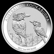 2017 1 oz Silver Australian Kookaburra GEM BU Coin Perth Mint .999 Roll 7