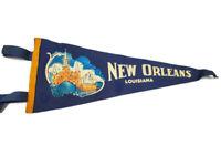 """New Orleans LA Louisiana Vintage Souvenir 17"""" Pennant"""