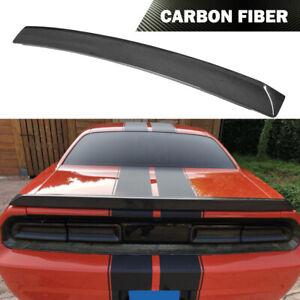 Fit For Dodge Challenger 2008-2014 Rear Trunk Spoiler Wing Carbon Fiber Factory