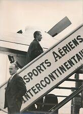 PARIS 1956 - Abderrahim Bouabid Ambassadeur Départ pour le Maroc Orly - PR 534