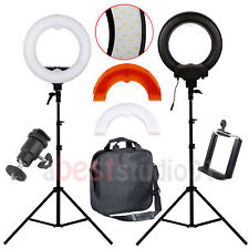 "Studio 12"" Led 35W Ring Light + 200cm Reverse Stand Photo Video Makeup Beauty Us"