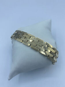 """9ct Gold Fancy Bracelet For Women - 8"""", 15mm, 32.8g"""