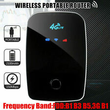 4G LTE WiFi Wireless Router 150Mbps Mobile Broadband Hotspot Portable Black GT#