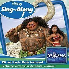 MOANA CD DISNEY SING-ALONG  INCLUDES LYRIC BOOK