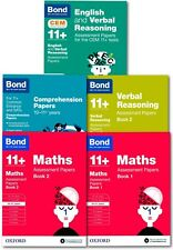 Bond 11+ plus Assessment Papers English Maths Comprehension 10-11 Year Pack of 5
