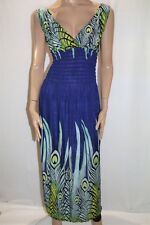 Unbranded Purple Peacock Print Sleeveless Maxi Dress Size S-M BNWT #LIN