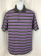 FootJoy FJ Men's Short Sleeve Polo Golf Shirt-Size Medium M Purple Tanoan CC