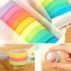10pcs Rainbow Washi Sticky Paper Masking Tape Adhesive DIY Decor Scrapbooking