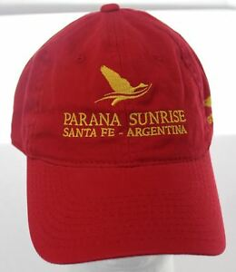 NWOT Parana Sunrise Santa Fe, Argentina Golden Fish Hunting Club Hat Cabelas Cap
