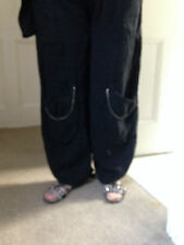 Trousers/Pants  heavyweight Linen by Sarah Santos of Italy in Wide Leg
