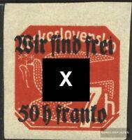 Rumburg (Sudetenland) 26 geprüft postfrisch 1938 Tschechoslowakeiaufdruck