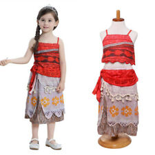Kids Girls Moana Princess Cosplay Costume Tops Skirt Party Fancy Dress Outfit AU