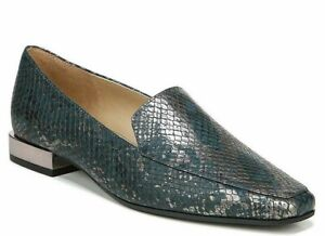 Naturalizer Women's Clea Loafer Flat Kingfisher Snake Slip on Flats SIZE 6 WIDE