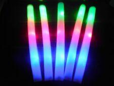5 xLED Leuchtstab aus Schaumstoff Leuchtsticks multicolor 3 verschiede Blinkmodi