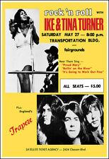 Ike & Tina Turner Trapeze 1972 Oklahoma City Fairgrounds Concert Poster