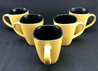 Corelle HEARTHSTONE TUMERIC YELLOW Coffee Cup Mug Stoneware - Set of 5