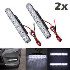 2x Car 6LED Fog DRL Light Lamp Daytime Driving Running Light 12V/24V Waterproof