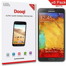 6X Dooqi Matte Anti Glare Screen Protector Guard Film For Samsung Galaxy Note 3