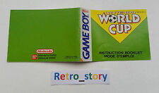 Nintendo Game Boy World Cup Notice / Instruction Manual