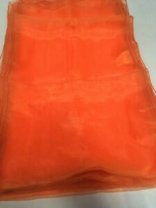 CLEARANCE ORANGE ORGANZA TABLE RUNNERS LARGE CHAIR SASHES 40 X 270 CM