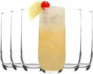 6pcs x Highball Tall Cocktail Glasses. Water Juice Party Drinkware. (415 cc/ml)
