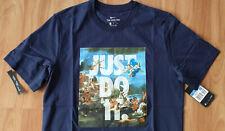 Nike Just do it T-Shirt Blau Größe M sehr edel NEU