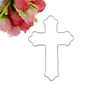Halloween Cross Stainless Steel Cutter Biscuit Cookie Mold Baking Decor FE