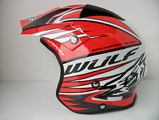 New Kids Wulfsport Red Fibreglass Trials Helmet (All Sizes) Youth Beta Gasgas Ty