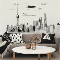City Sketch Removable PVC Wall Sticker Art Decal Home Living Room Decoration