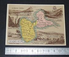 CHROMO BON-POINT HACHETTE 1885 GEOGRAPHIE COLONIES FRANCE ANTILLES GUADELOUPE